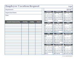 pto request template time off calendar template 2017 business employee vacation request