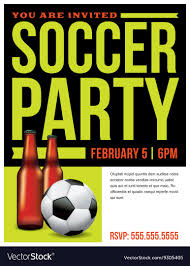 Soccer Party Invitation Template Soccer Party Invitation Flyer Template