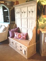 Entrance Bench With Coat Rack Simple Furniture White Wooden Large Hall Tree With Storage Bench And Open