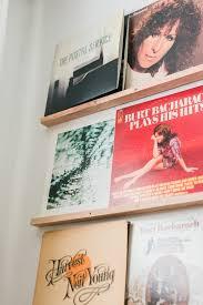 diy vinyl records shelf display