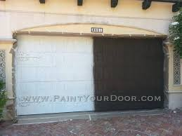 painting steel garage door archive with tag metal garage door paint type painting a metal garage door uk