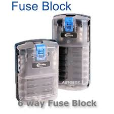 caravan 6 way 30 amp fuse block terminal holder 12v 4wd camper camper fuse box cover manufacturer number btfb6r