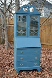 beautiful vintage secretary desk hutch hand painted with chalk painttm by annie sloan hand painted secretary