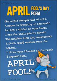 April Fool's Day Poem: Poster | April fools day, April fools, Funny april  fools pranks