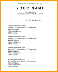 Reference Page For Resume Sample Resume Pro