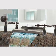 excellent lovely waterfall bathroom faucet kokols oil rubbed bronze waterfall bath tub shower faucet set