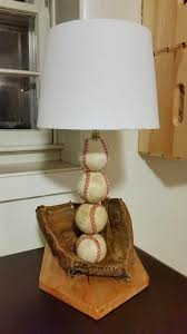 diy baseball lamp