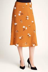 Kensie Clothing Size Chart Kensie Mid Century Floral Midi Woven Skirt