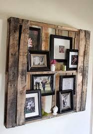 Wooden Diy Display Family Photos Wall