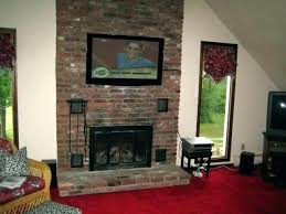fireplace wall mount for brick installing over installation mounting best tv