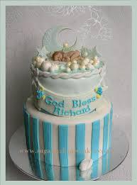 Designer Baby Shower Cakes Baby Blue Christening Cake Designer Cakes Cupcakes