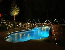 inground pools at night. Choosing The Right Set Of Pool Lights, Colors, Shapes, And Styles, Will Greatly Depend On Type Swimming Your Personal Preferences. Inground Pools At Night G