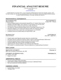 Financial Analyst Job Description Resume Resume Examples Financial Analyst Examples of Resumes 45