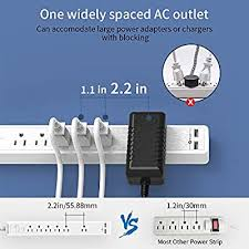 <b>NTONPOWER 6</b> Outlets Surge Protector Power Strip with 2 USB ...