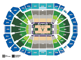 Bucks Seating Chart Seating Maps Milwaukee Bucks