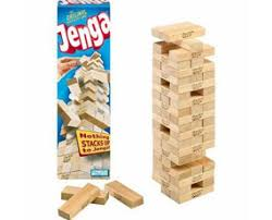 Game With Wooden Blocks JENGA There is neither glitz nor glamour in this game Jenga 81