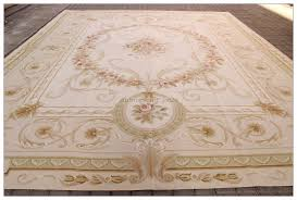 aubusson rug 12x15 large pastel french beige cream