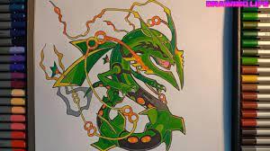 cách vẽ pokemon khỉ lửa Goukazaru bằng màu chì đơn giản nhất - YouTube