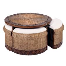 round rattan coffee table with stools have to it bali hayneedle 78e7853a385fb466bd3a6f84159