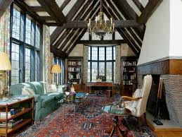 Rug. english tudor interiors | The nearly untouched Great Room is perhaps  the home's most