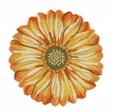 round sunflower indoor outdoor rug