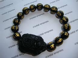 black onyx mantra dragon tortoise bracelet crystal empress feng shui