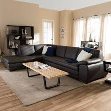 dark brown leather couches. Angela Dark Brown 2-piece Leather Sectional Sofa Couches N