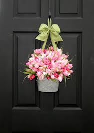 front door hangingsCheap decorating ideas  Front doors Spring and Doors