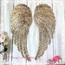 metal angel wings wall art gold angel wings wall decor large metal angel wings wall decor