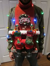 UGLY CHRISTMAS SWEATER DIY (Stuck in the Chimney 2012) | Ugliest ...