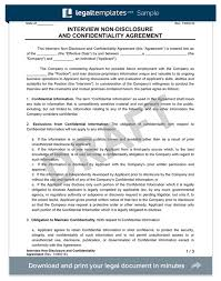 Free Nda Template Interview Candidate Non Disclosure Agreement Create An Nda