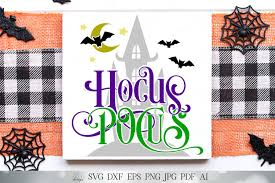 Silhouette studio, cricut design space and i smell children svg, halloween svg, witch svg, hocus pocus svg, spooky svg, kids halloween svg, silhouette cricut files, svg, dxf, eps, png. Hocus Pocus Halloween Cutting File And Printable Svg Dxf And More Halloween Sign Witch Sign Spooky House Bats Sign So Fontsy