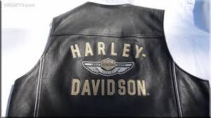 harley davidson 100th anniversary leather vest