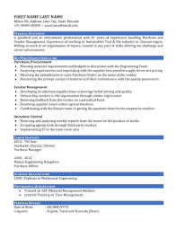 Purchase Manager Resume Samples Indian Professional Resume Templates