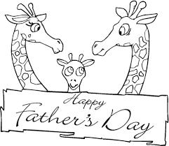 Giraffes Samen Op Vaderdag Kleurplaat Gratis Kleurplaten Printen
