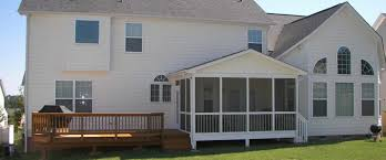 deck screened porch header