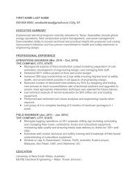 Electrical Engineer Resume Delectable Operations Engineer Resume