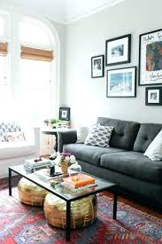 dark grey sofa living room ideas decor gray couch decorating light leather roo