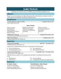 Resume Templates | medical assistant resume samples Medical ...