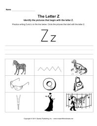 Covering, letters of the alphabet. Letter Z Pictures