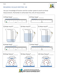 4th Grade Reading Level Chart 4th Grade Measurement Worksheets