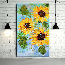 high quality handmade painting abstract flower sunflower home decoration painting oil on canvas
