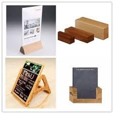 Wooden Menu Display Stands Restaurant Menu Display Stand wood Menu Holder Mini Chalkboard 3