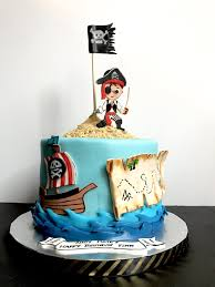 Complete Set Of Fondant Pirate Themed Personalized Cake Decorating