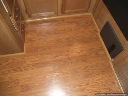 installing laminate flooring in a travel trailer installed quarter in the kitchen