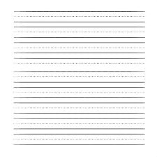 Free Printable Blank Handwriting Worksheets Kindergarten Writing