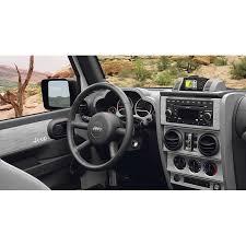 mopar 82210121 interior trim appliques in brushed silver for 07 10 jeep wrangler unlimited jk 4 door with power windows quadratec