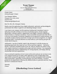 Marketing Cover Letter Sample Marketing Cover Letter Example Job Application Cover