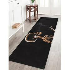 skeleton smoke print anti skid water absorption indoor outdoor area rug