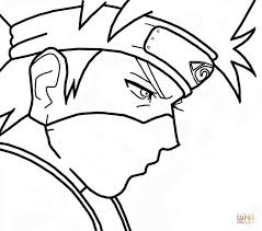 Small Picture Kakashi Hatake from Naruto coloring page Free Printable Coloring